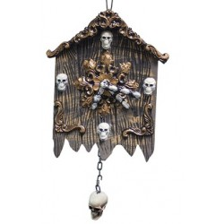 Spooky Wall Clock Halloween Decoration