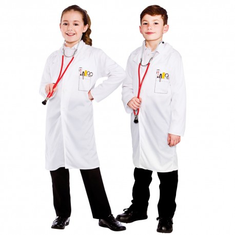 Doctor Coat Childrens Halloween Fancy Dress Costume