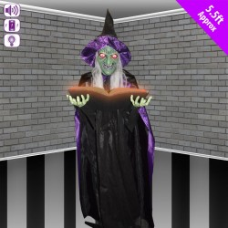 Story Book Animated Witch Halloween Prop