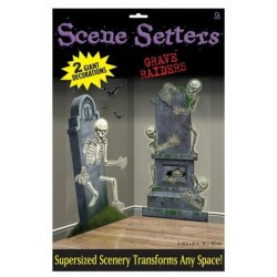 Scene Setter Graveyard Raiders Halloween Decoration