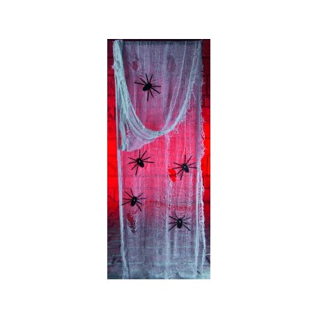 Fabric Kit With Spiders Halloween Decoration