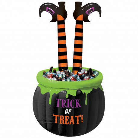 Witches' Brew Inflatable Cooler with Striped Legs 1.4m