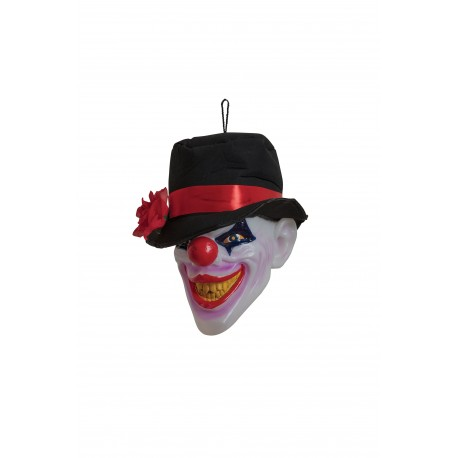 Light Up Clown Head Halloween Decoration
