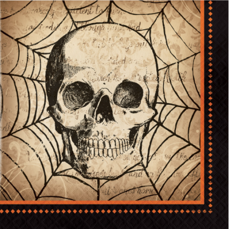 Spooky Symbols Halloween Party Napkins