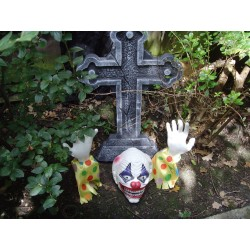 Evil Clown Ground Breaker Halloween Prop