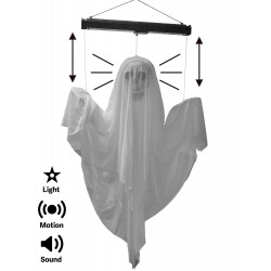 Light-up Animated Ghost With Sound Halloween Decoration