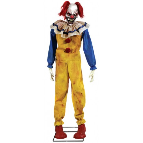 Twitching Clown Animated Horror Prop