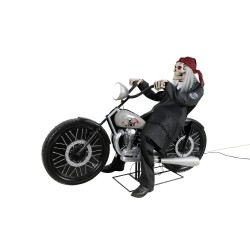 Motorcycle Riding Reaper Animated Horror Prop