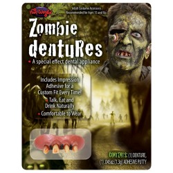 Deluxe Zombie Teeth Halloween Fancy Dress Horror Makeup