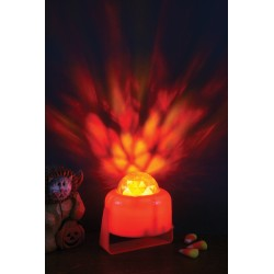 Flaming Pumpkin Light Halloween Decoration