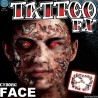 Cyborg Face Tattoo FX