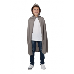 Childs Grey Hooded Cape