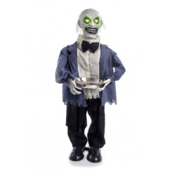 Zombie Butler With Sound Halloween Prop - PRE ORDER