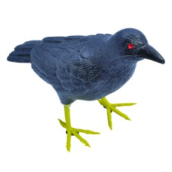Raven Plastic Halloween Decoration