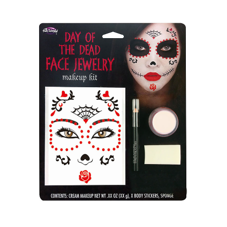 Day Of The Dead Face Make-Up Kit