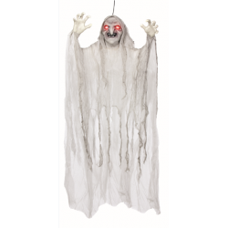 Light Up Spinning White Witch Halloween Decoration