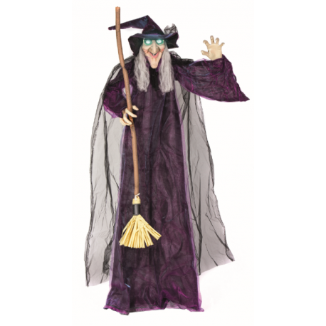 Animated Standing Witch Halloween Prop