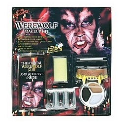 Werewolf Character Halloween Fancy Dress Horror Makeup Kit