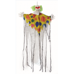 Skeleton Clown Halloween Prop