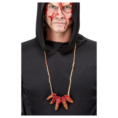 Severed Fingers Halloween Necklace