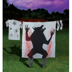 Bloody Werewolf Silhouette Halloween Decoration