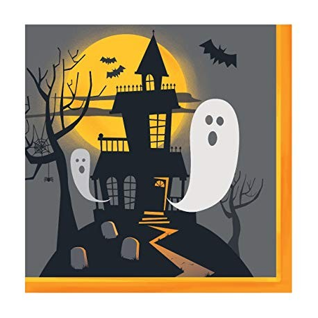 Haunted Halloween Party Napkins