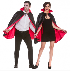 Deluxe Satin Vampire Cape Short