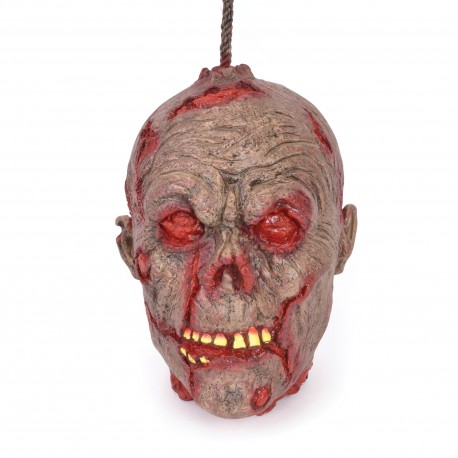 Hanging Decayed Head Halloween Prop