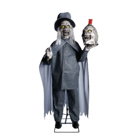 Two Headed Greeter Animated Halloween Prop
