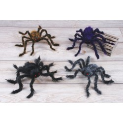 Hairy Poseable Spider Halloween Creature