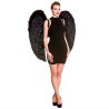 Deluxe XL Black Angel Wings