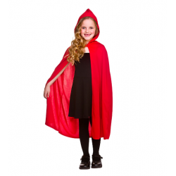 Red Velvet Hooded Childs Cape