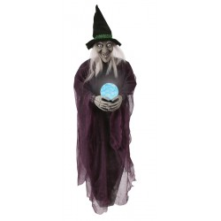 Psychic Witch Hanging Halloween Decoration