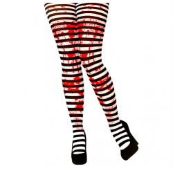 Bloody Tights Striped Black & White