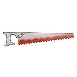 Bloody Fake Saw Halloween Horror Prop Weapon