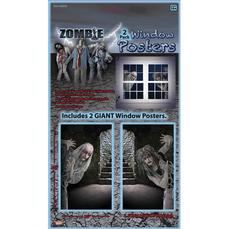 Zombie Window Poster Halloween Decoration