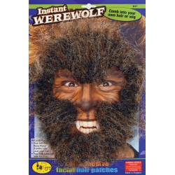 Instant Werewolf Face Hair Halloween Horror Kit