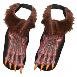 Werewolf Brown Shoe Covers Halloween Costume Accessory