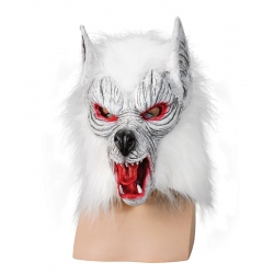 Killer Wolf White Halloween Horror Mask