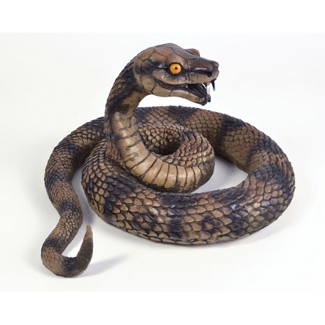 Snake Coiled Realistic Prop Halloween Decoration