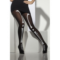 Skeleton Print Tights Halloween Costume Accessory
