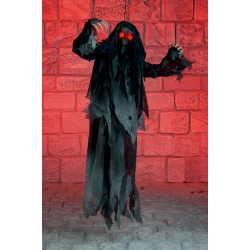 Hanging Reaper with Lights Horror Prop
