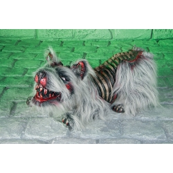 Hairy Wild Skeleton Dog Halloween Horror Prop