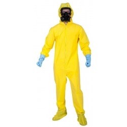 Bad Chemist Hazmat Suit Halloween Fancy Dress Costume
