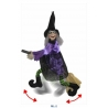 Animated Flying Witch Halloween Decoration