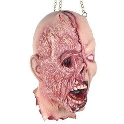Burnt Face Hanging Head Horror Prop Decoration
