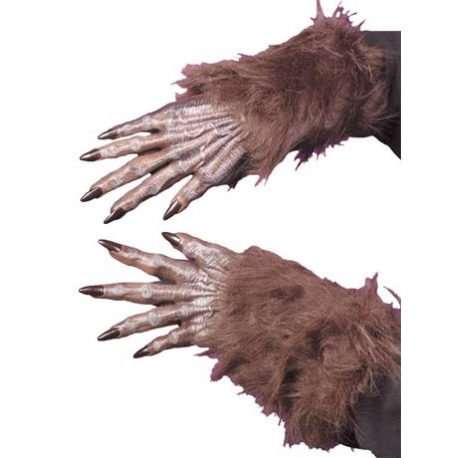Werewolf Brown Gloves Halloween Costume Accessory