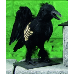 Standing Skeleton Crow Halloween Decoration