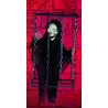 Caged Black Grim Reaper Halloween Decoration