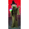 Standing Witch With Crystal Ball Halloween Horror Prop
